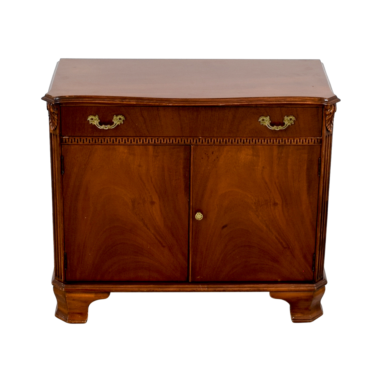 John Stuart Inc. Antique One-Drawer with Storage Sideboard / Storage