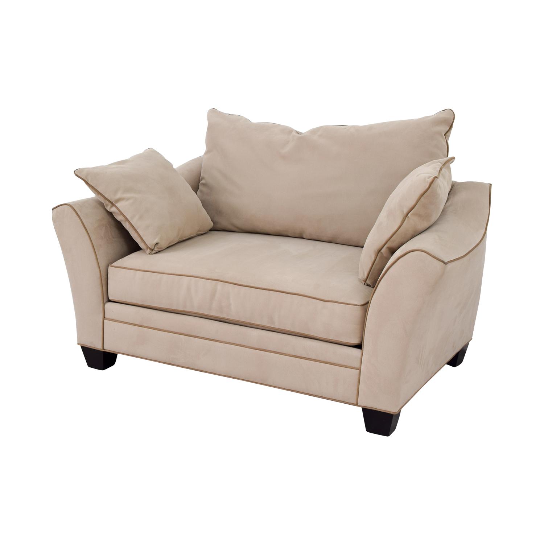 ... Raymour U0026 Flanigan Briarwood Microfiber Chair / Chairs ...