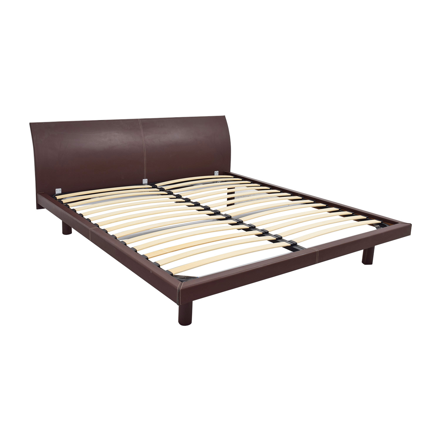 Calligaris Concorde Leather King Bed Calligaris
