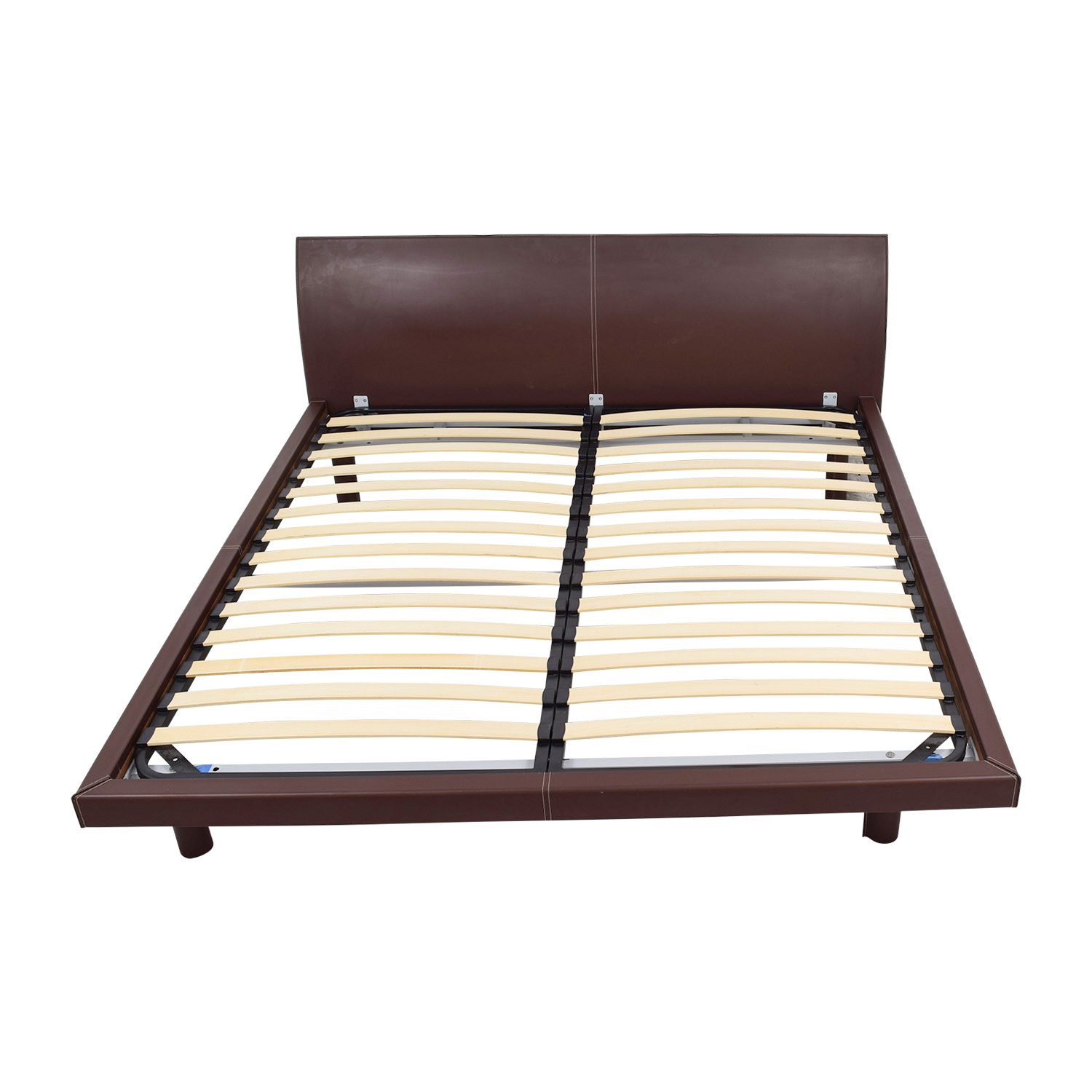 shop Calligaris Concorde Leather King Bed Calligaris Bed Frames