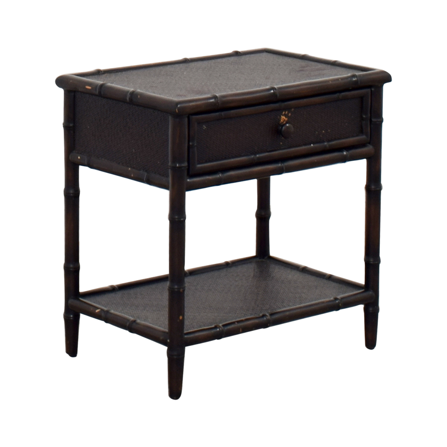 Crate & Barrel Crate & Barrel Queen Solid Wood Malabar Side Table on sale