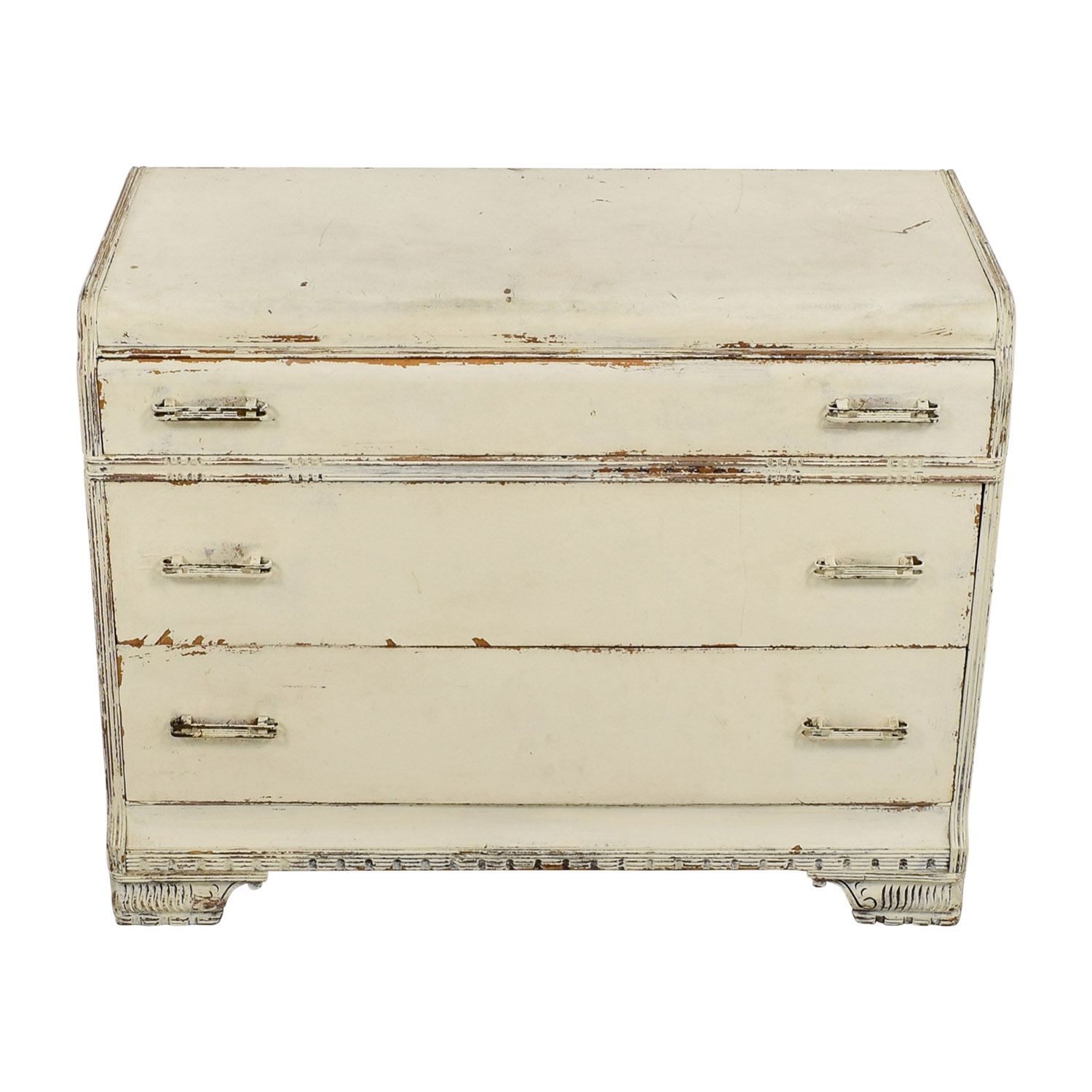 buy Restoration Hardware Distressed White Three-Drawer Dresser Restoration Hardware Dressers