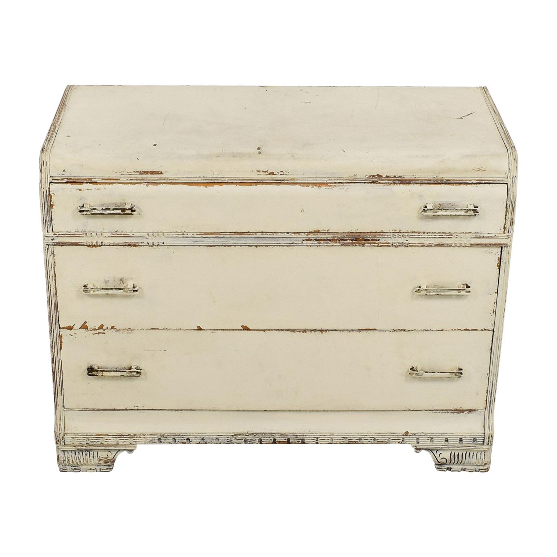 Restoration Hardware Restoration Hardware Distressed White Three-Drawer Dresser nyc
