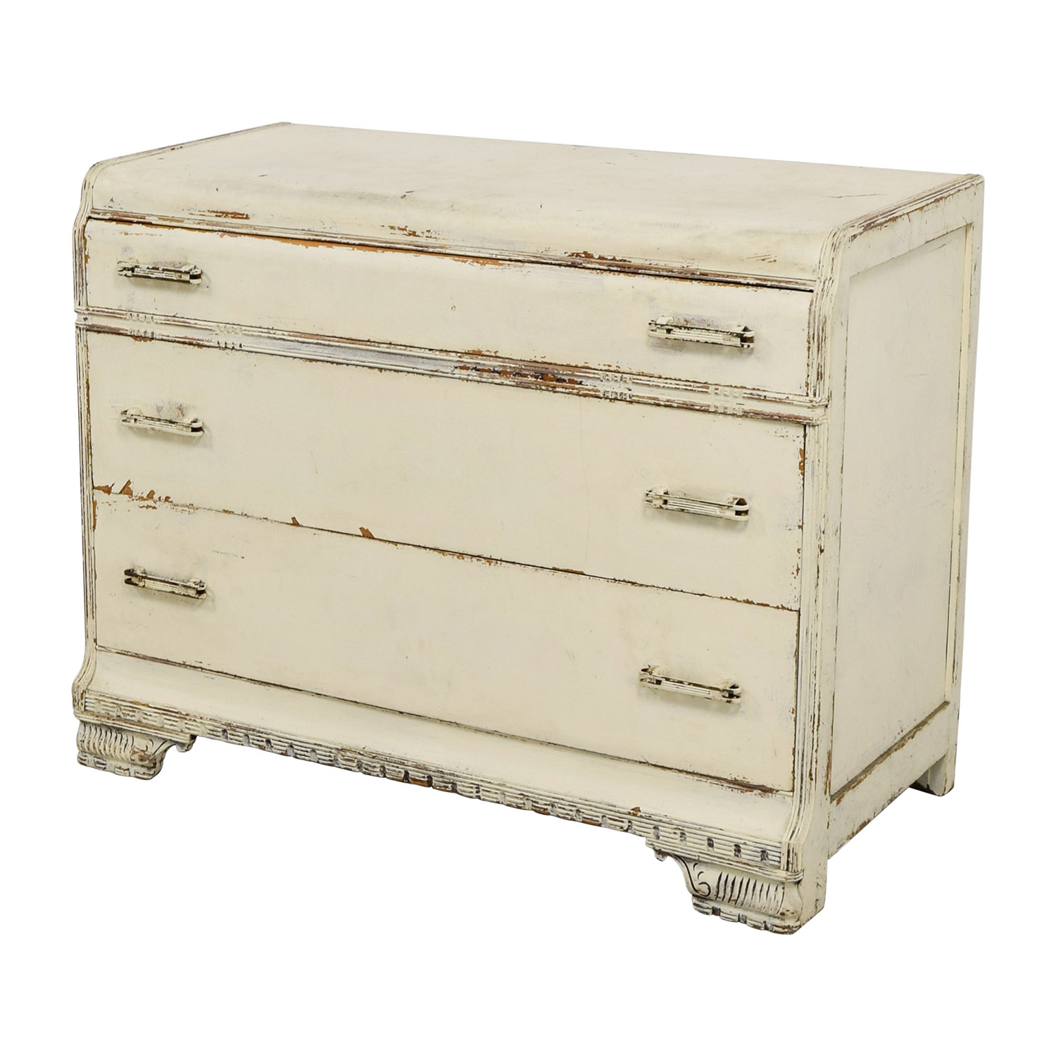 Restoration Hardware Restoration Hardware Distressed White Three-Drawer Dresser nj