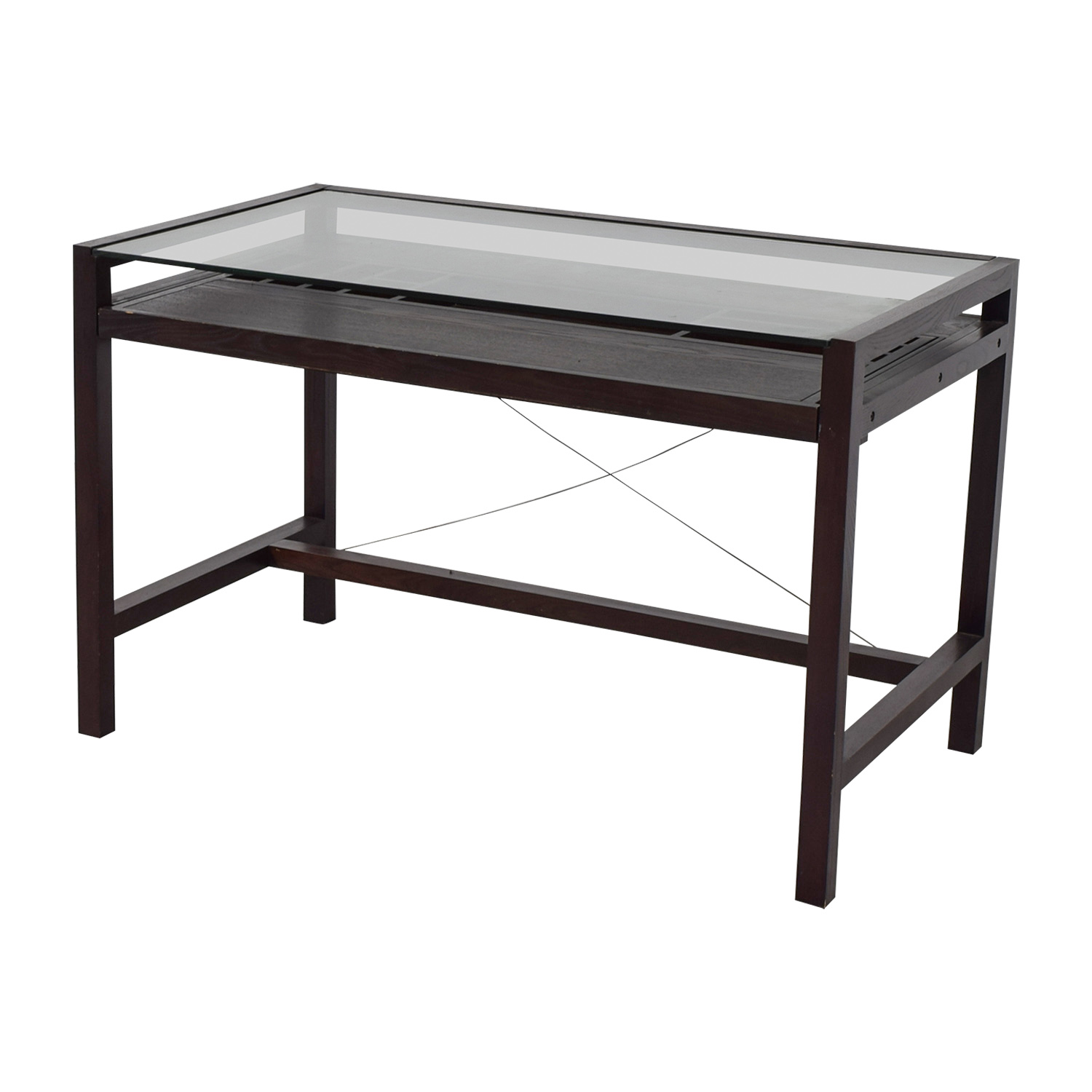 Glass and Wood Desk second hand