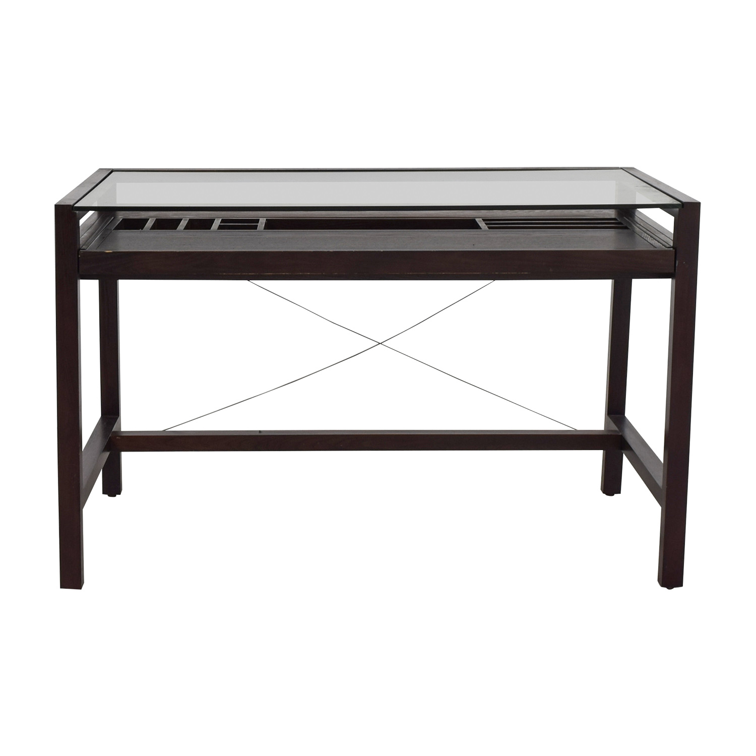 shop Glass and Wood Desk Tables