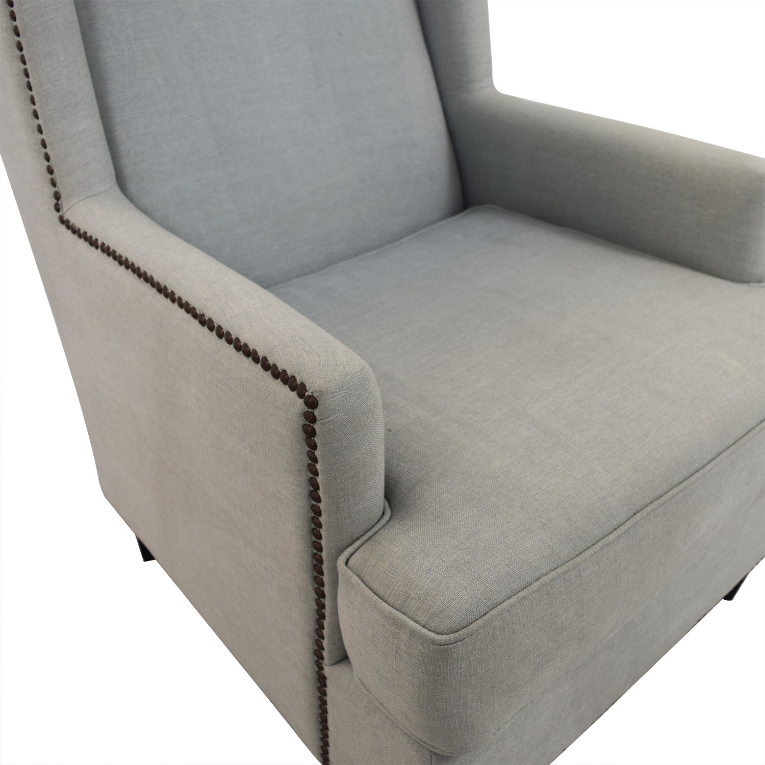 buy One Kings Lane Blue Upholstered Arm Chair One Kings Lane Chairs