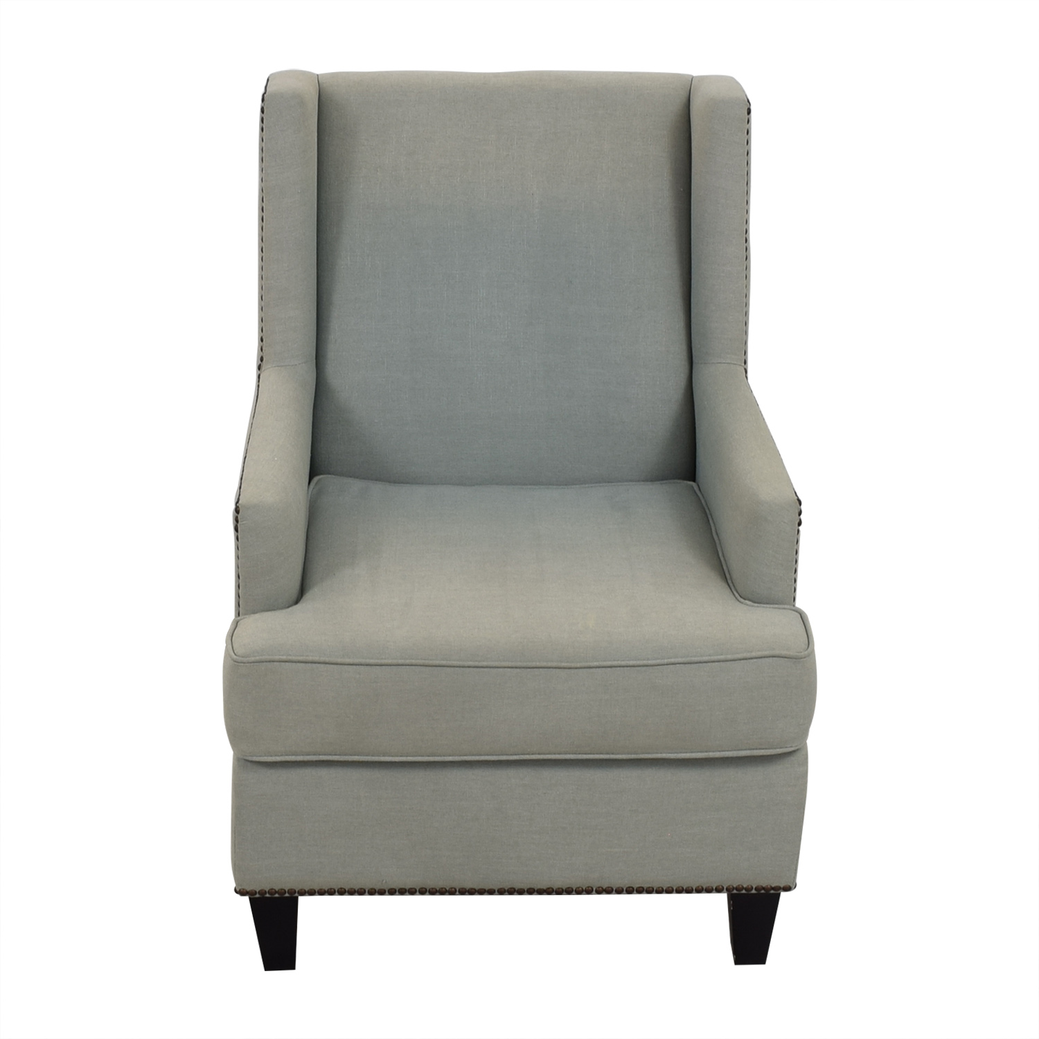 One Kings Lane Blue Upholstered Arm Chair sale