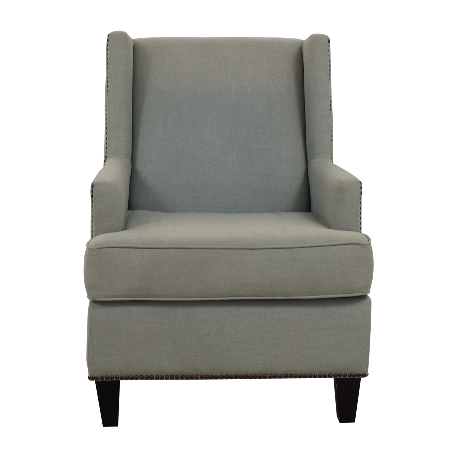 buy One Kings Lane One Kings Lane Blue Upholstered Arm Chair online