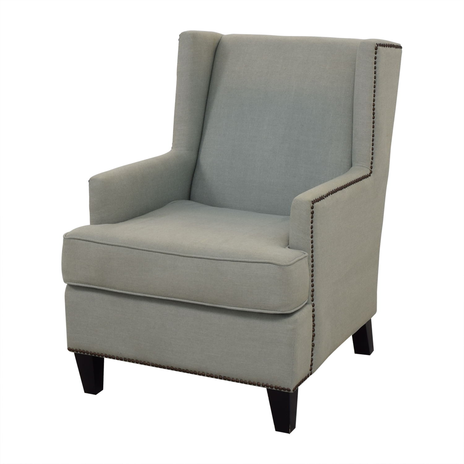 shop One Kings Lane One Kings Lane Blue Upholstered Arm Chair online