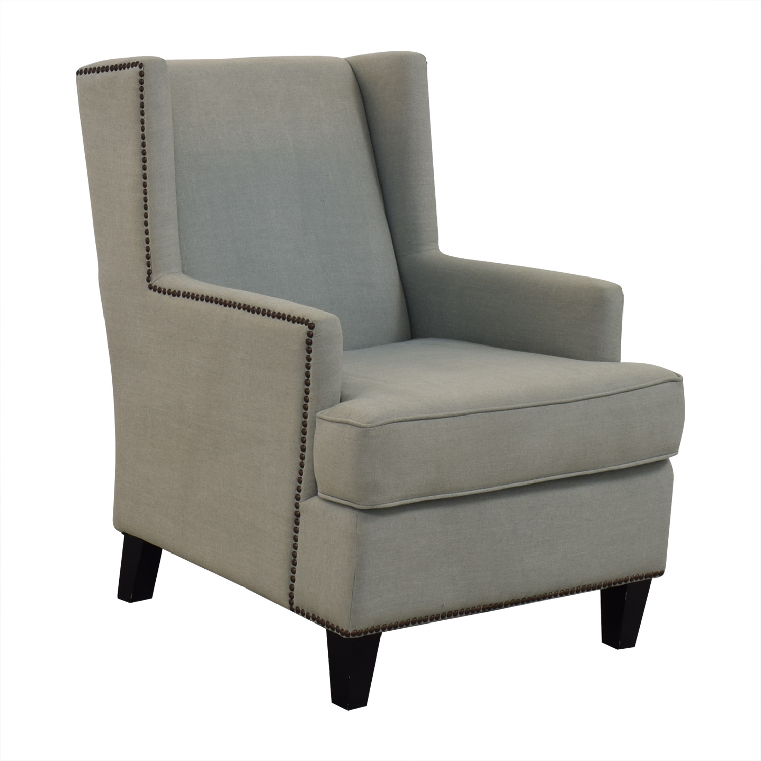 One Kings Lane One Kings Lane Blue Upholstered Arm Chair price