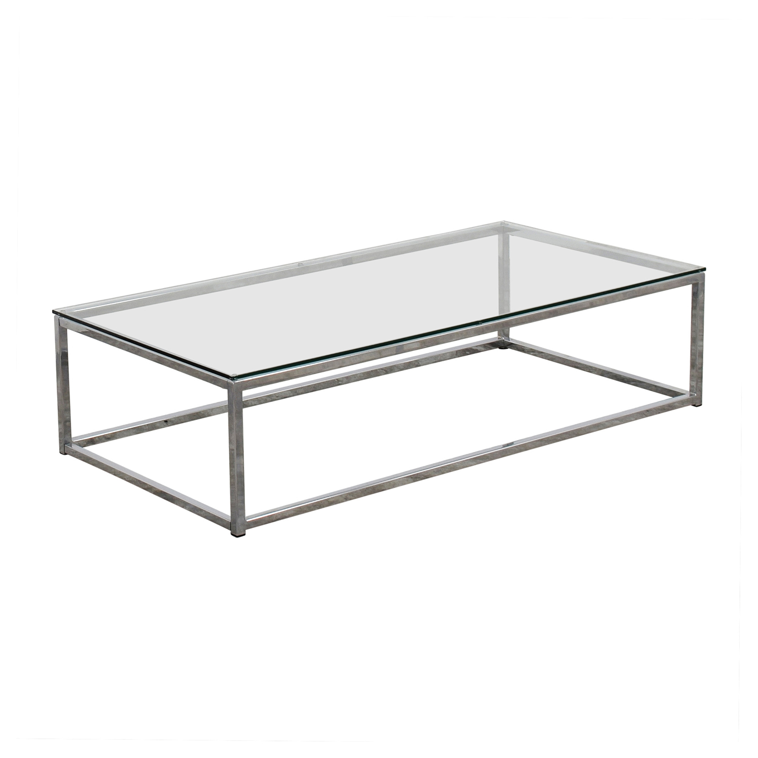 CB2 CB2 Glass and Chrome Coffee Table price