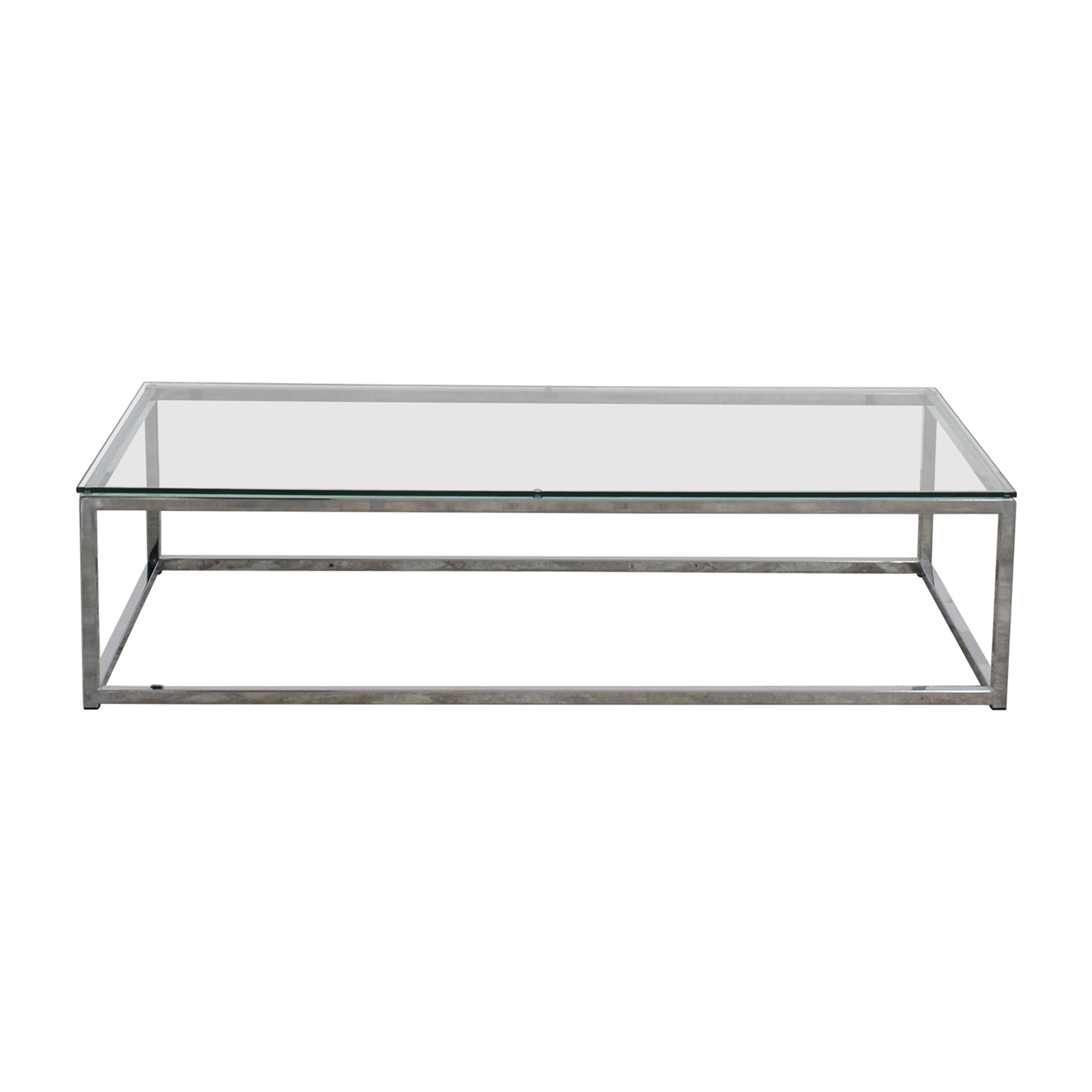 CB2 CB2 Glass and Chrome Coffee Table Chrome / Glass