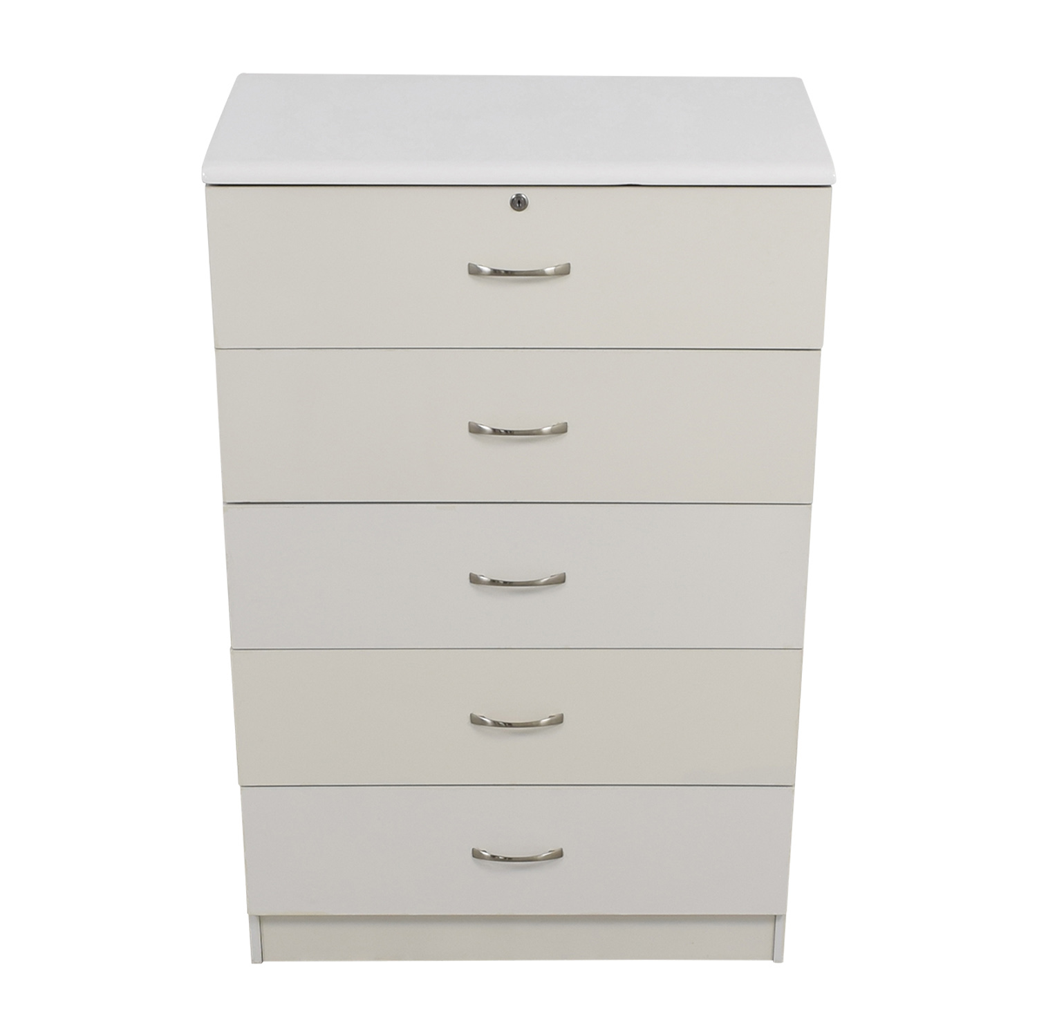 White Five-Drawer Dresser Dressers