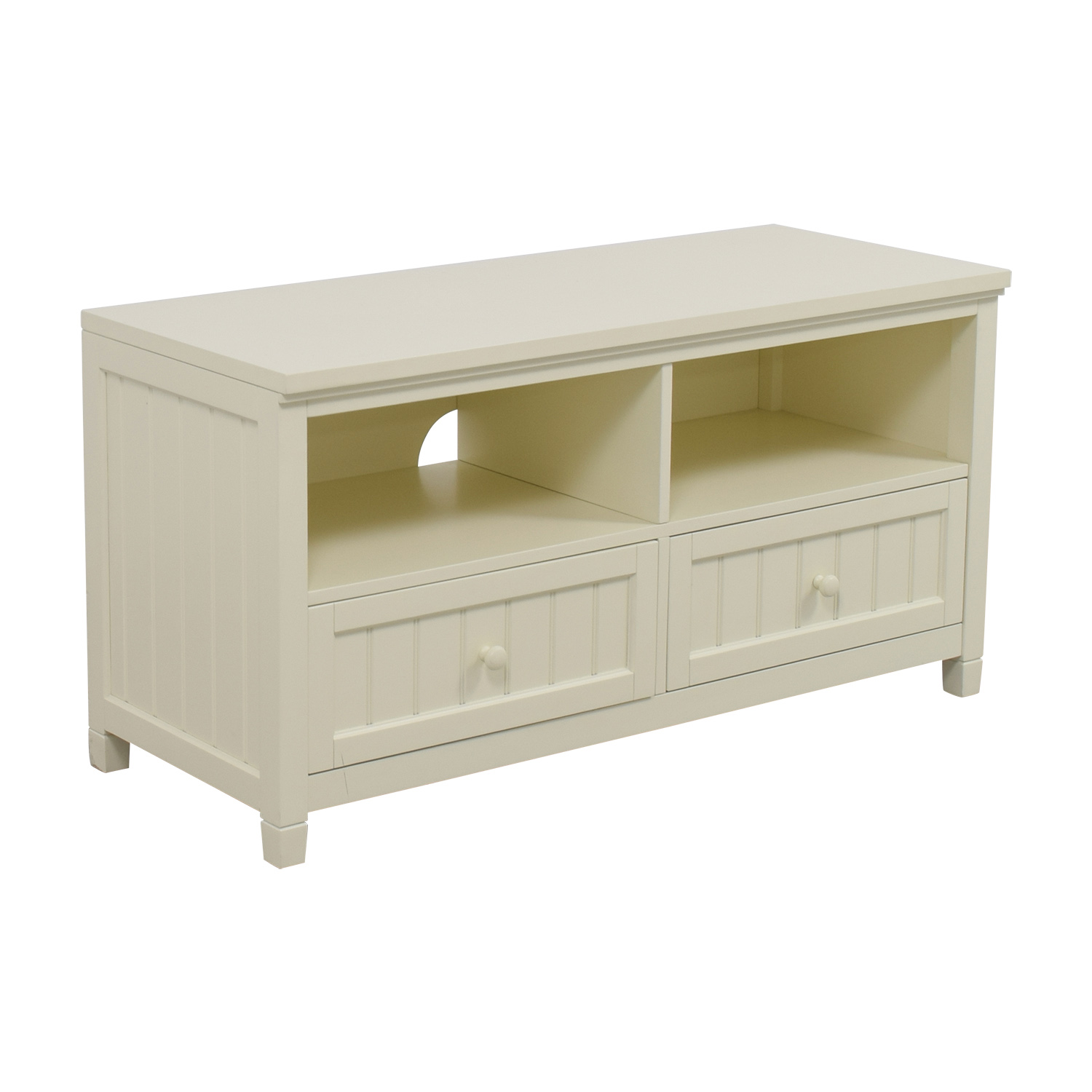 Pottery Barn Pottery Barn White Media Stand coupon