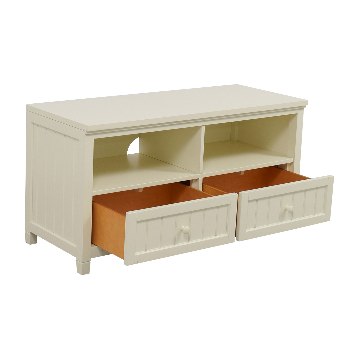 buy Pottery Barn White Media Stand Pottery Barn