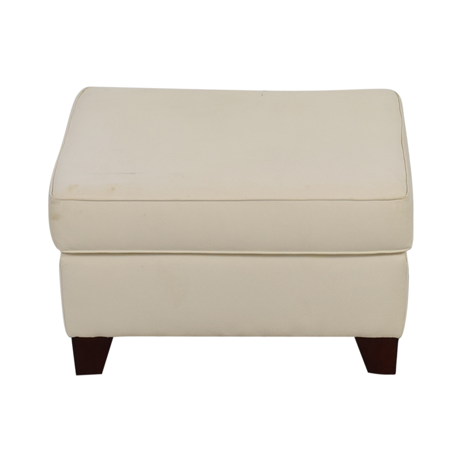 58% OFF Pottery Barn Pottery Barn White Ottoman Chairs