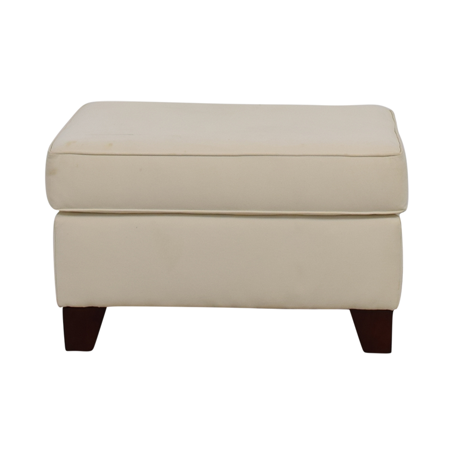 Pottery Barn Pottery Barn White Ottoman second hand