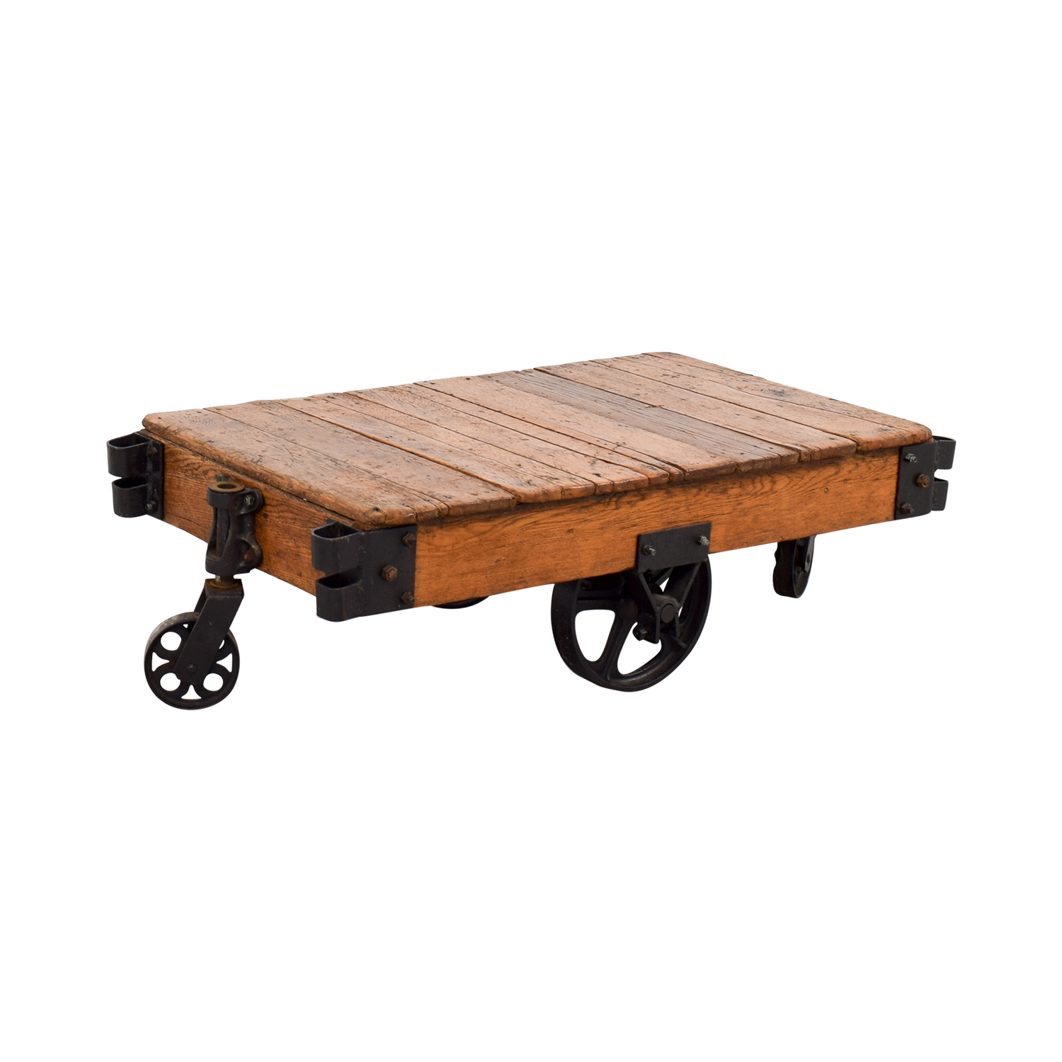 ... Restoration Hardware Rustic Coffee Table With Wheels / Coffee Tables ...