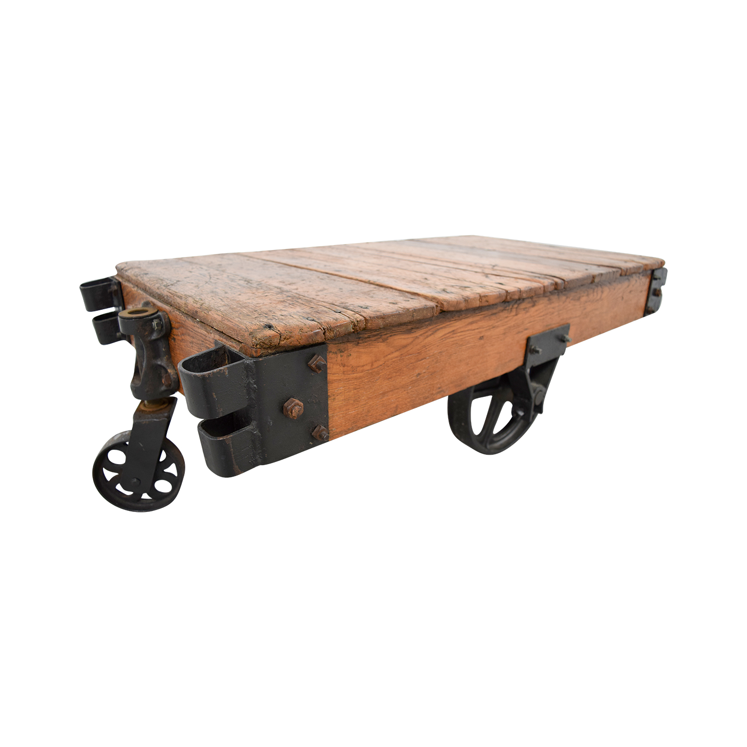 shop Restoration Hardware Rustic Coffee Table with Wheels Restoration Hardware