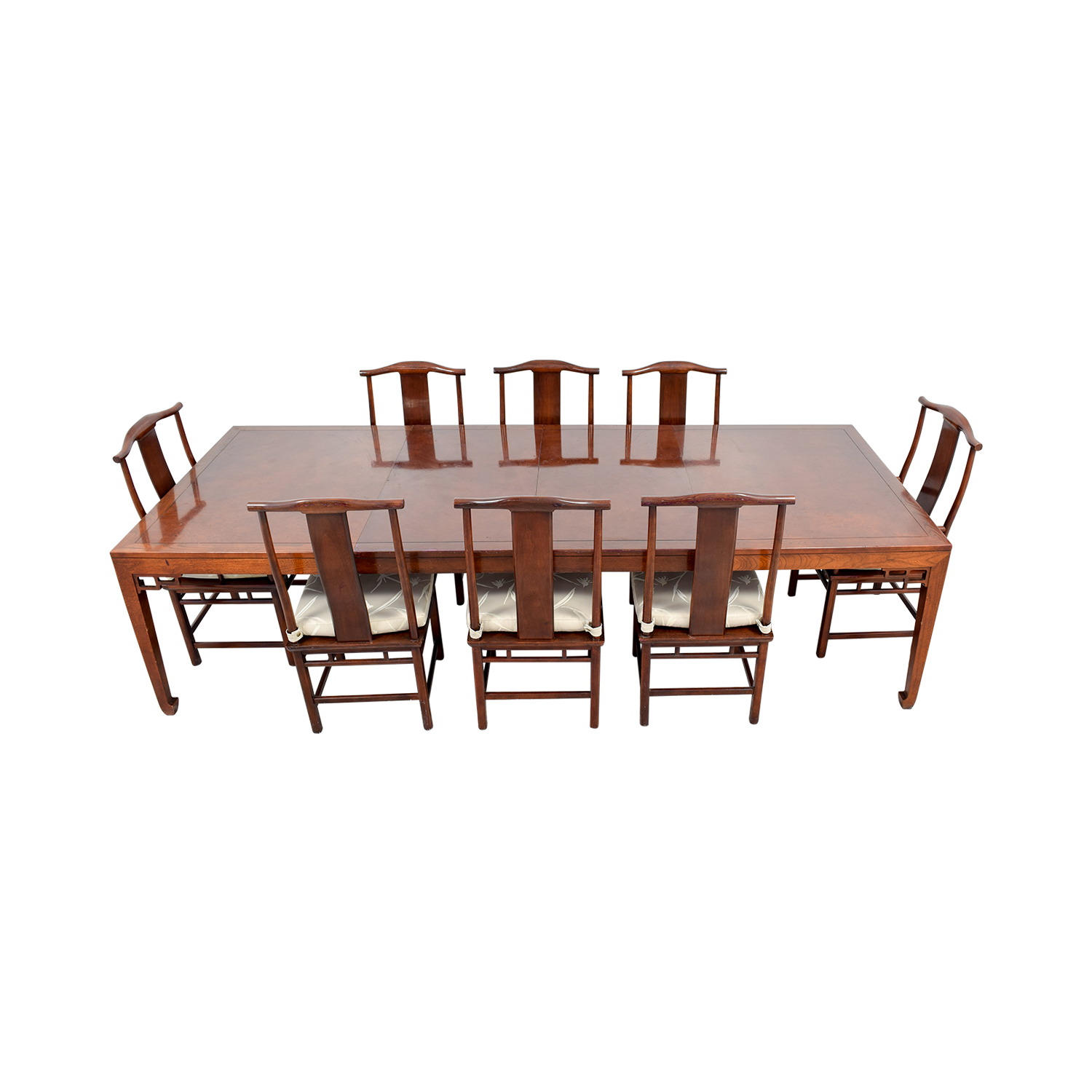 shop Baker Furniture Mahogany Dining Set with Two Leaves Baker Furniture Tables
