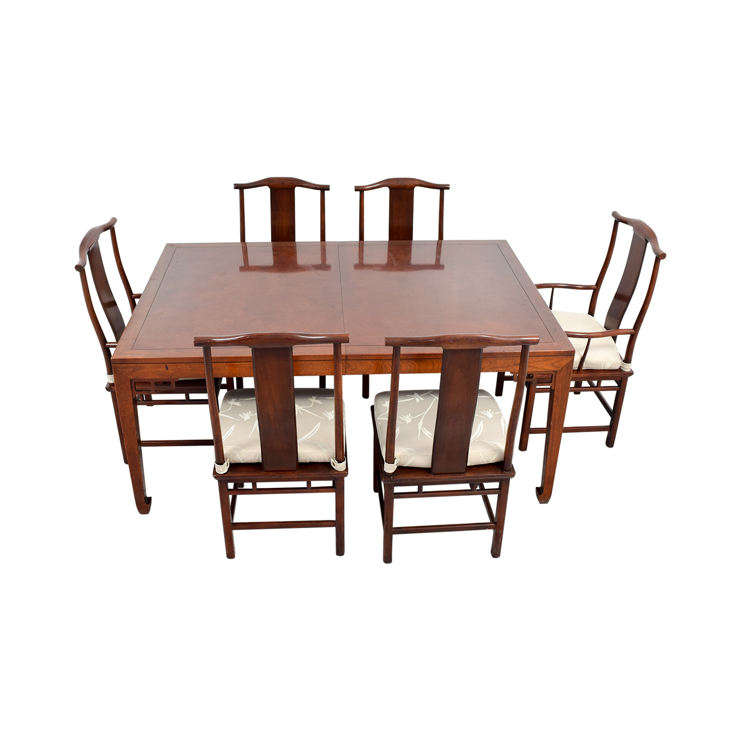 Baker Furniture Mahogany Dining Set with Two Leaves / Dining Sets