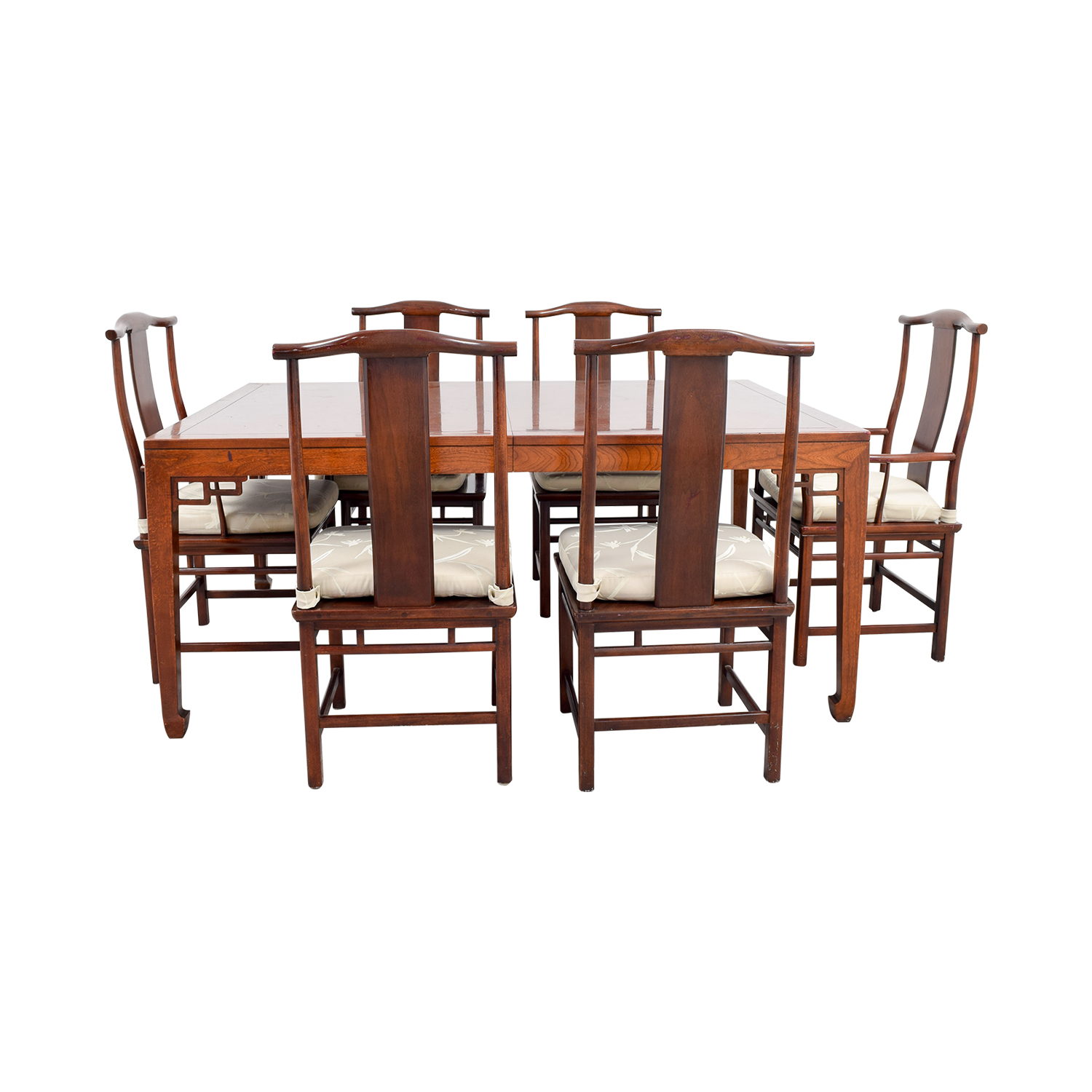 shop Baker Furniture Mahogany Dining Set with Two Leaves Baker Furniture