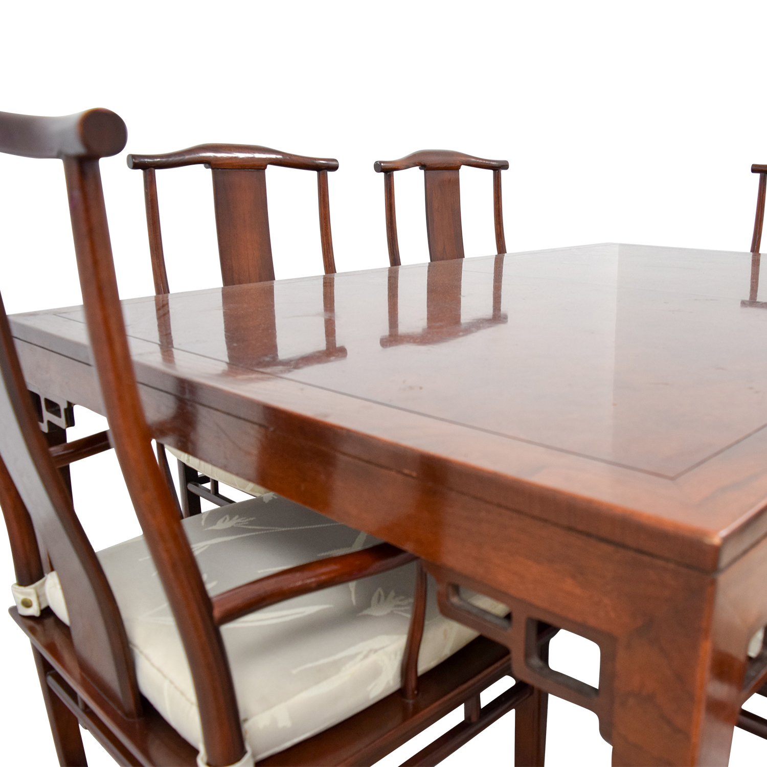shop Baker Furniture Baker Furniture Mahogany Dining Set with Two Leaves online
