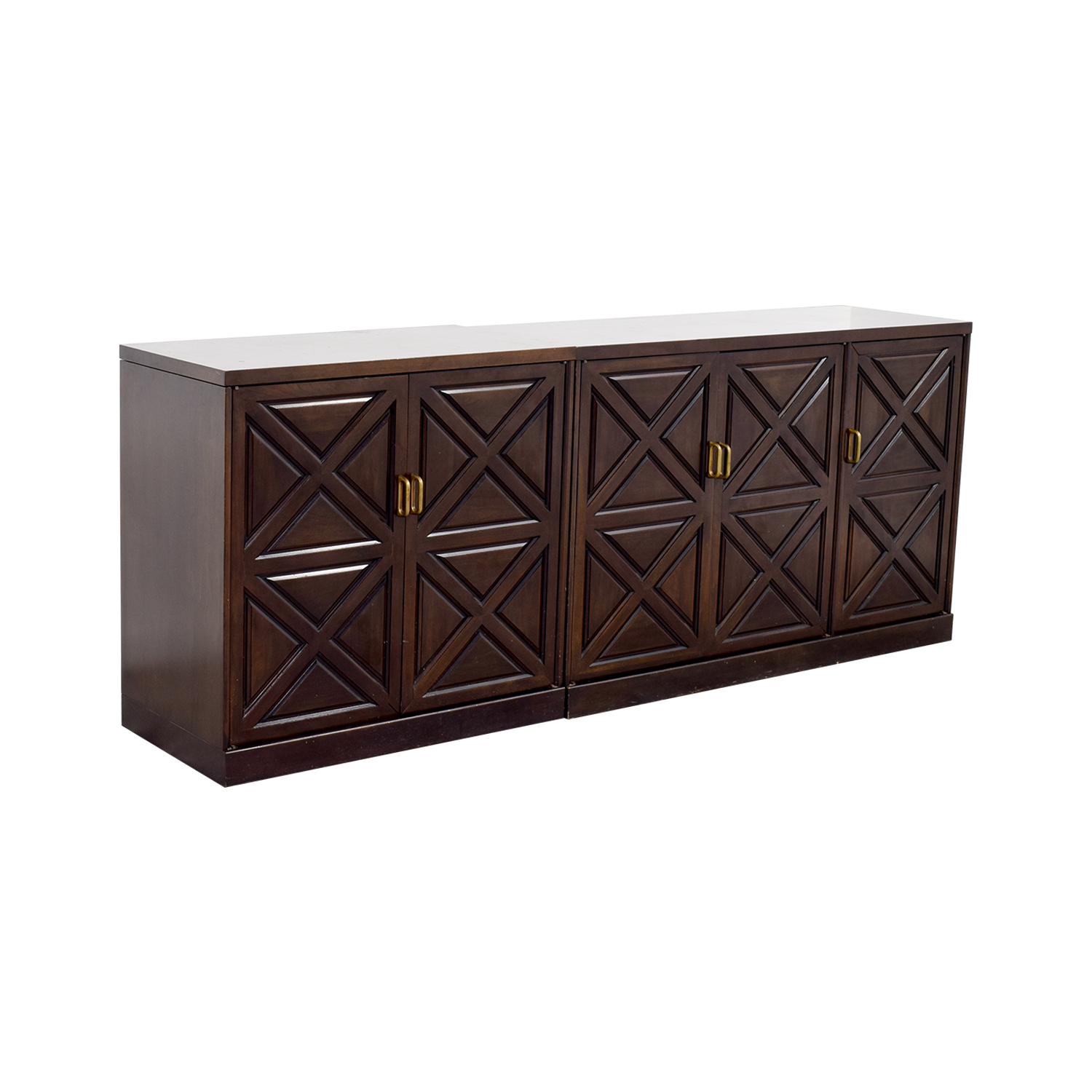 Mahogany Sideboard with Drawers and Shelves coupon