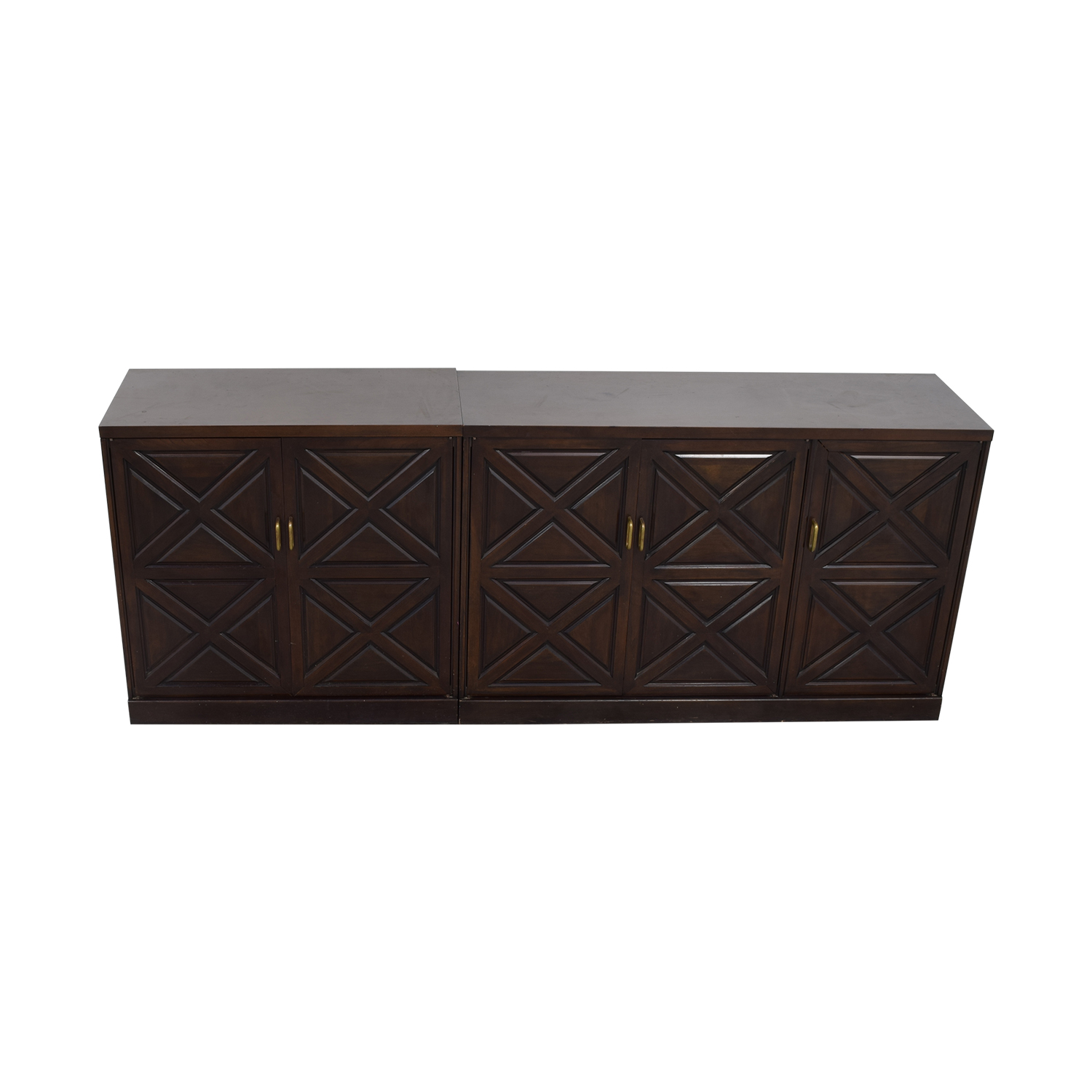 shop Mahogany Sideboard with Drawers and Shelves Storage