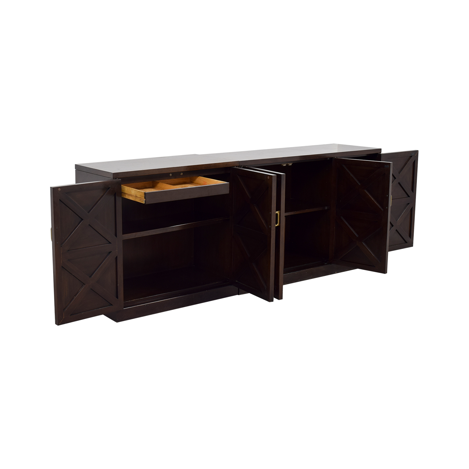 Mahogany Sideboard with Drawers and Shelves dimensions