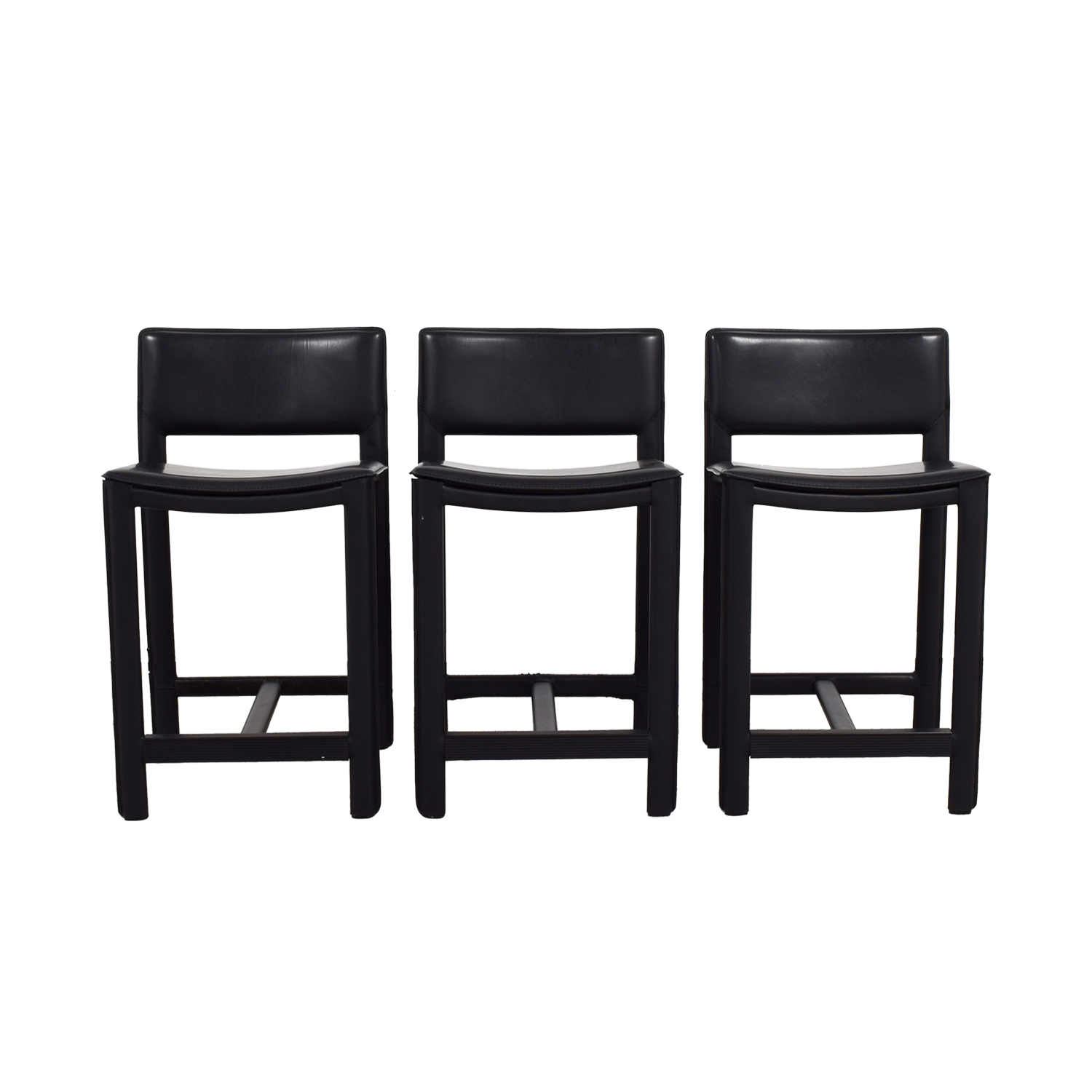 Room and Board Room and Board Sava Black Leather Bar Stools Stools