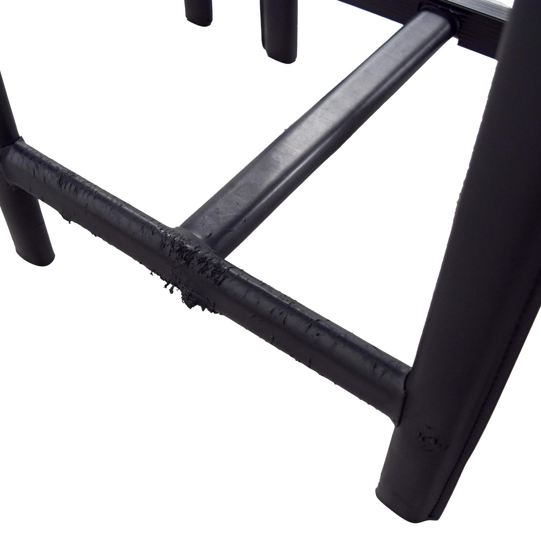 Room & Board Room & Board Sava Black Leather Bar Stools used