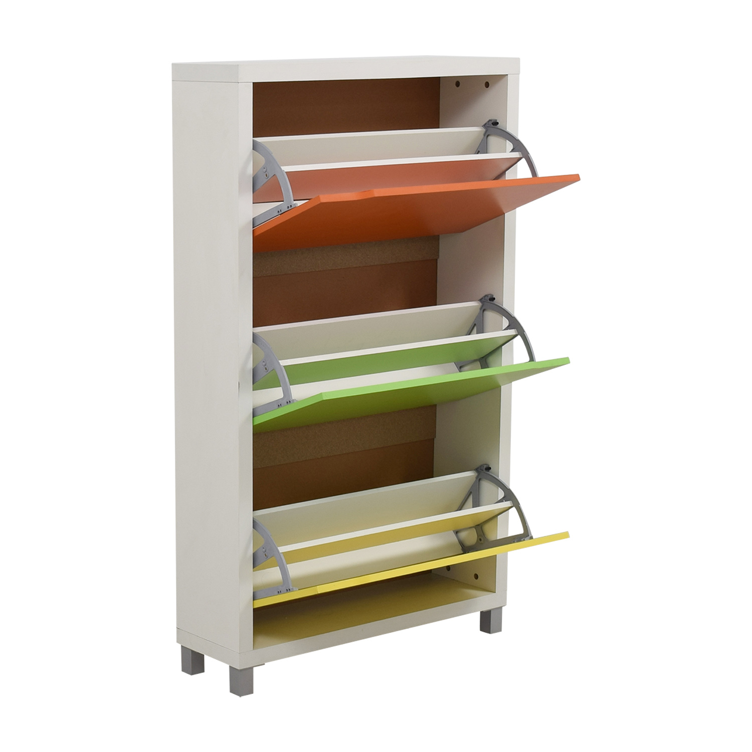 buy Green Orange and Yellow Shoe Case Dressers