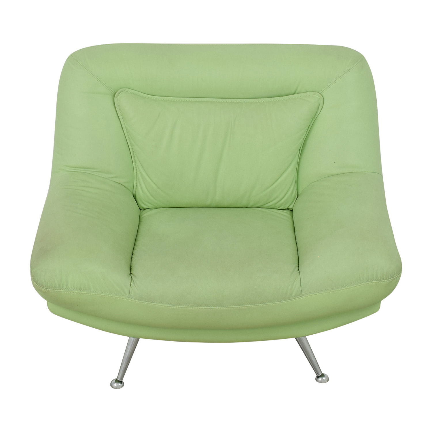 Italian Surf Green Leather Accent Chair coupon