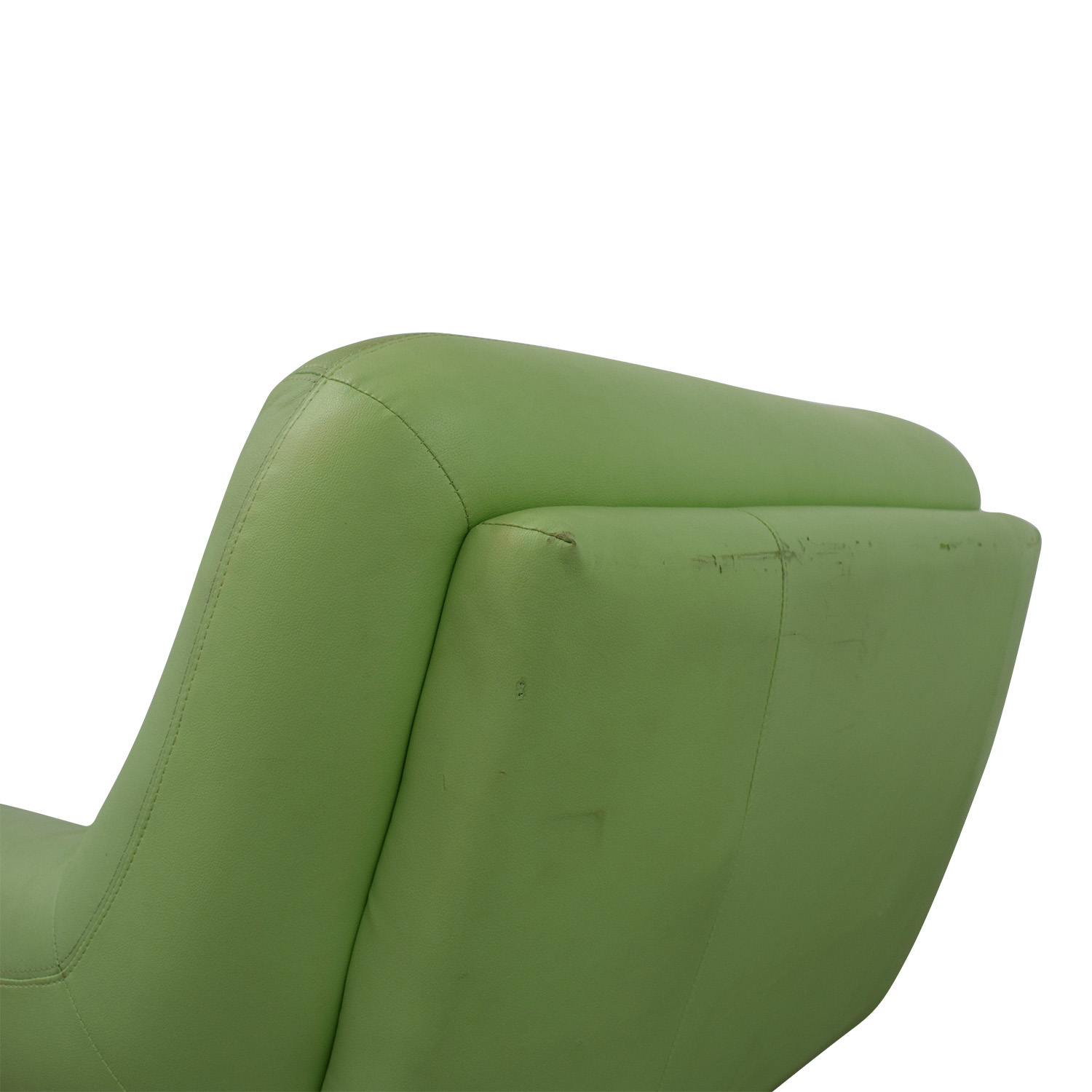 Italian Surf Green Leather Accent Chair
