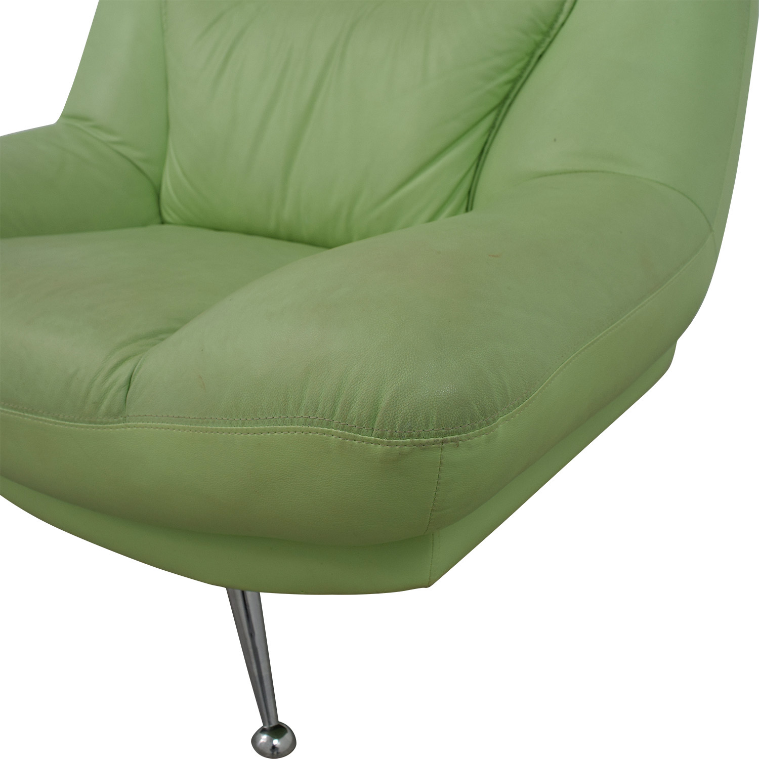 Italian Surf Green Leather Accent Chair Chairs