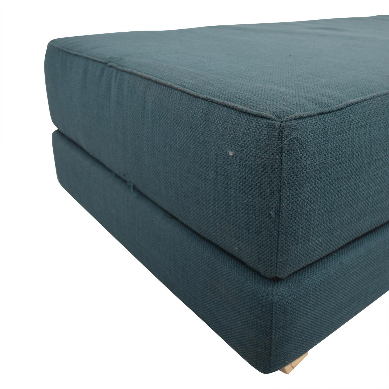 CB2 CB2 Lumi Blue Day Bed used