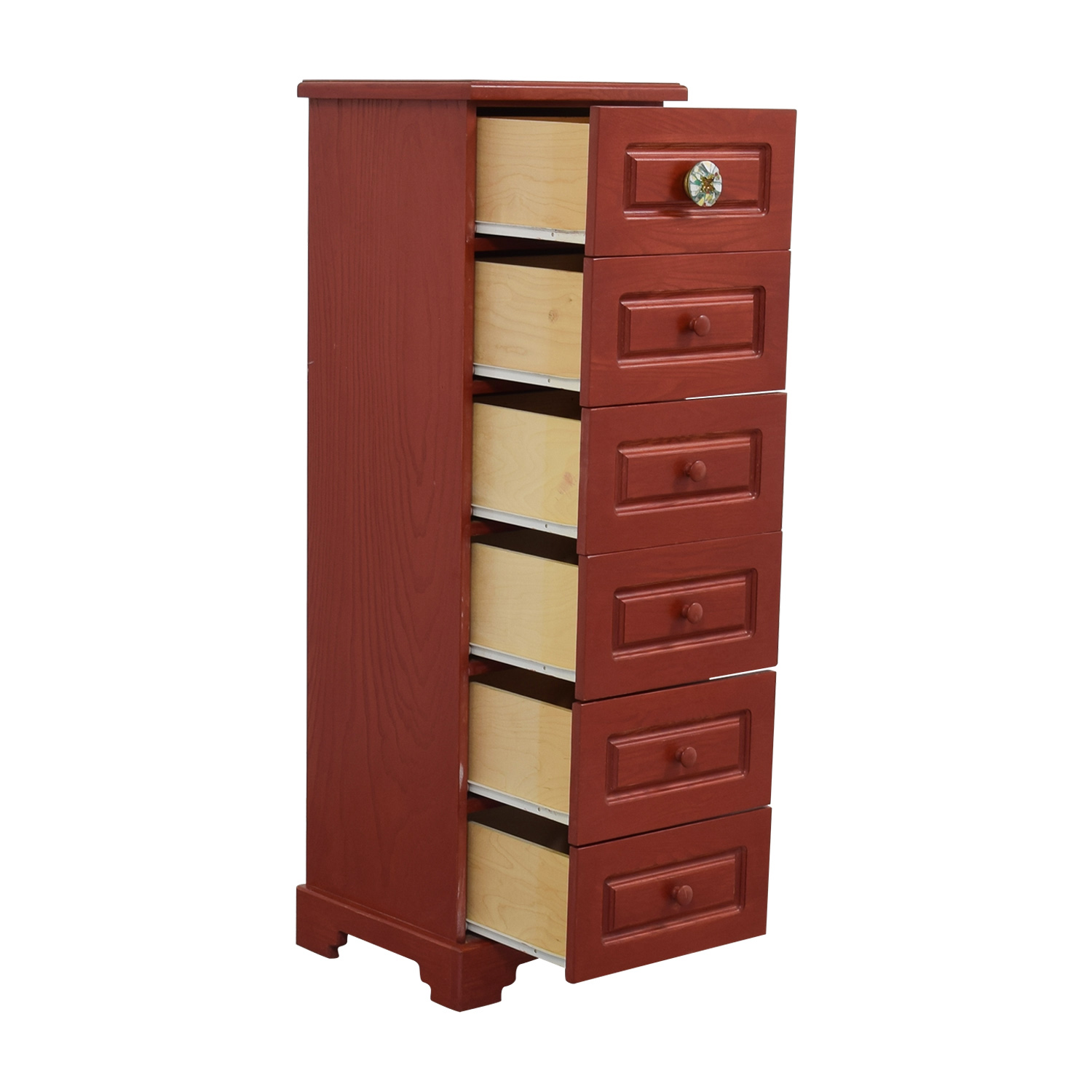 63 off red six drawer tall boy dresser storage. Black Bedroom Furniture Sets. Home Design Ideas