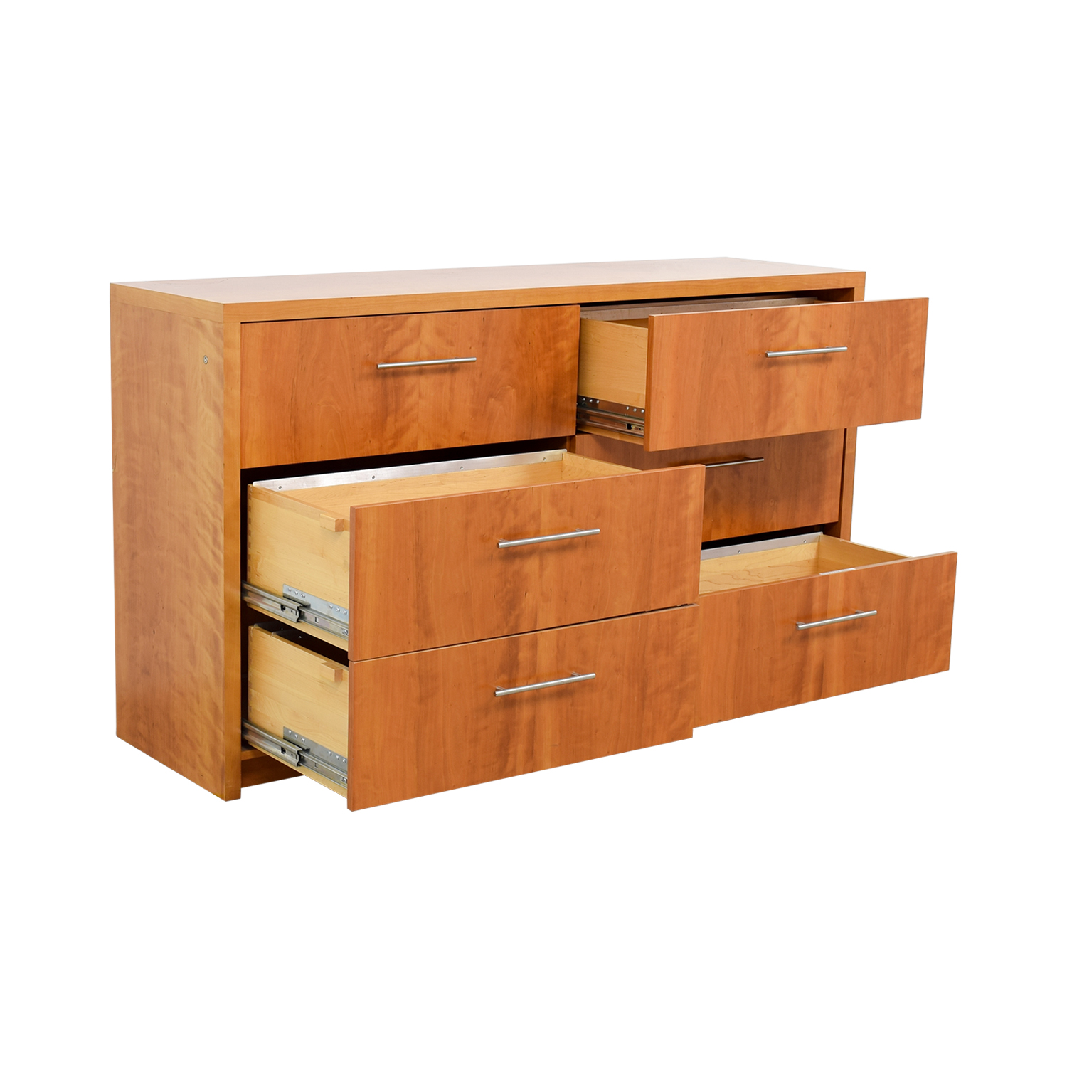 buy Wood Six-Drawer File Cabinet Storage