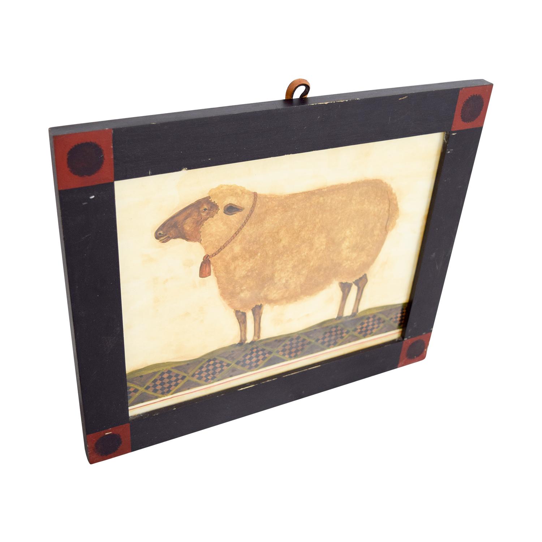 buy Rustic Sheep Framed Artwork Decor