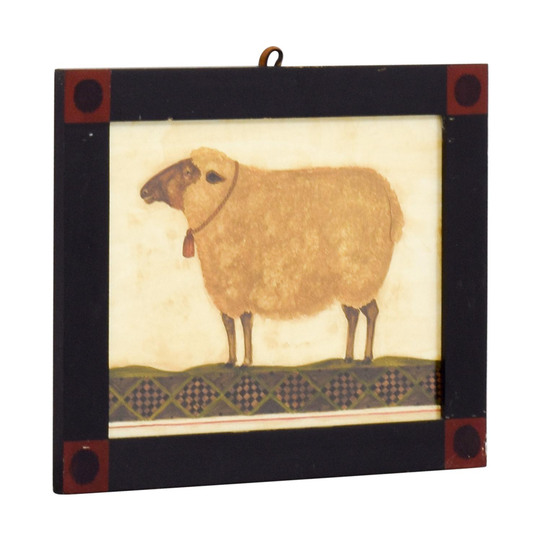 Rustic Sheep Framed Artwork Wall Art