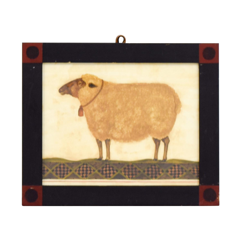 Rustic Sheep Framed Artwork Decor