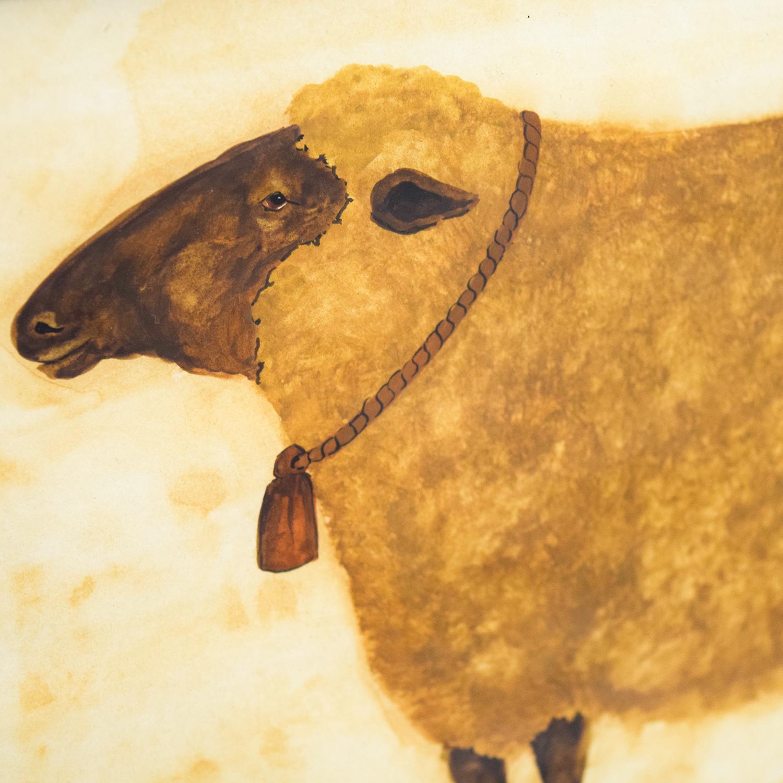 Rustic Sheep Framed Artwork
