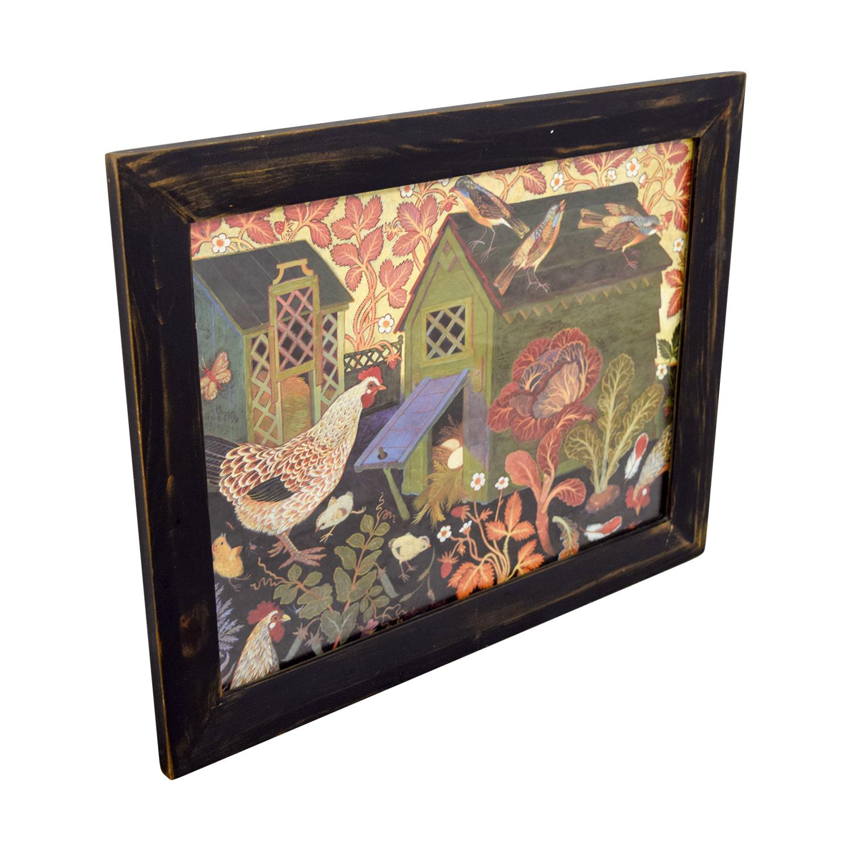 Clapper Hollow Designs Chicken Coop Framed Print sale