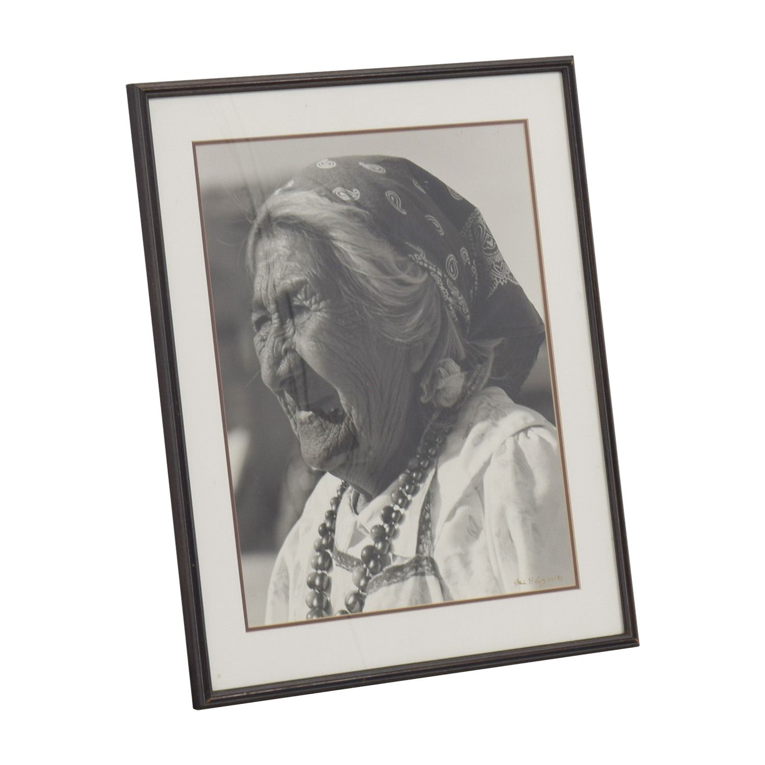 Elderly Woman Framed Artwork for sale