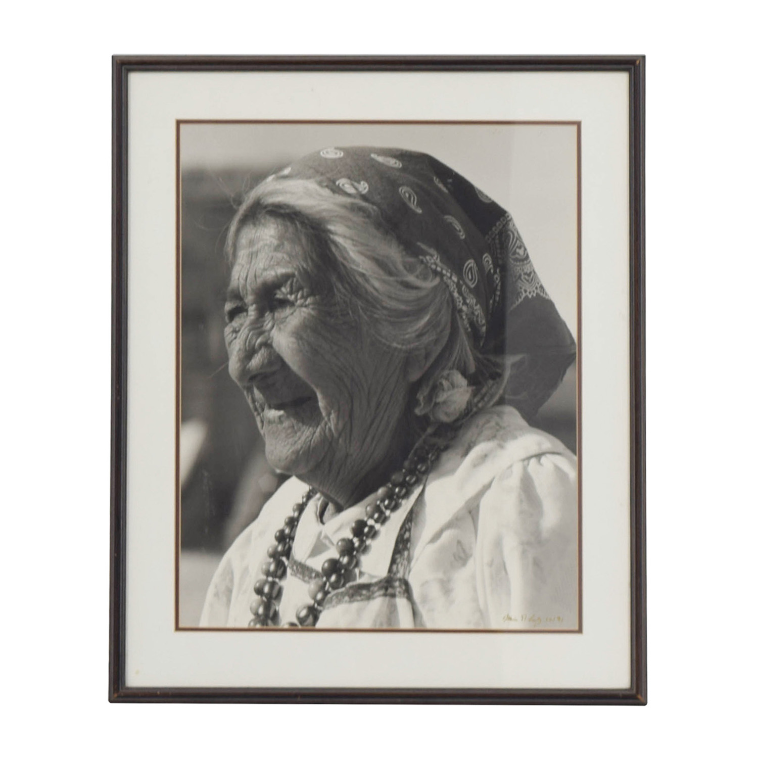 shop Elderly Woman Framed Artwork Decor