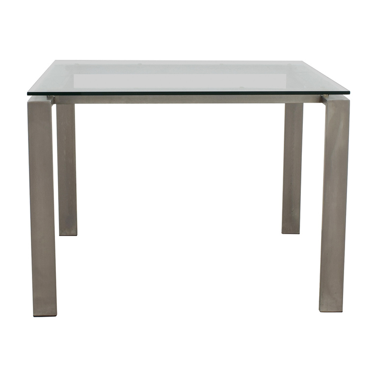 Room & Board Room & Board Rand Glass and Metal Dining Table dimensions