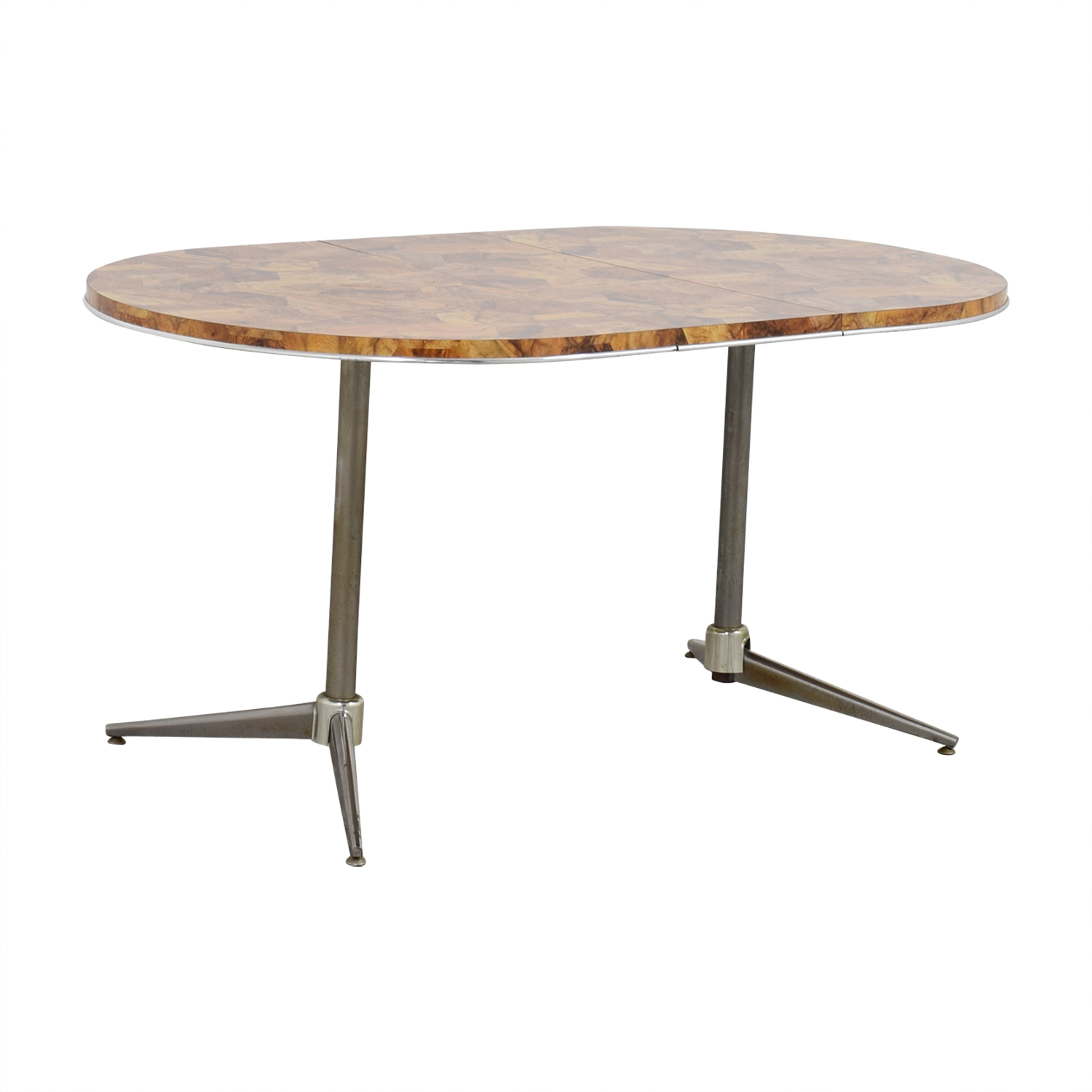 Faux Wood Top and Metal Oval Table price