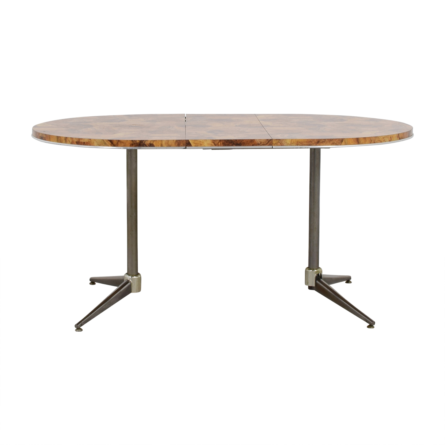 Faux Wood Top and Metal Oval Table dimensions